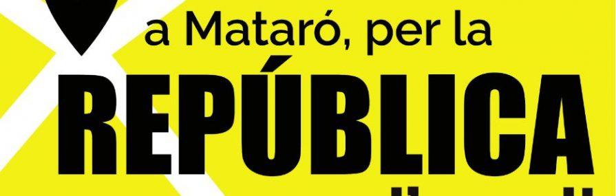 A MATARÓ, PER LA REPÚBLICA, POSEM-NOS D'ACORD