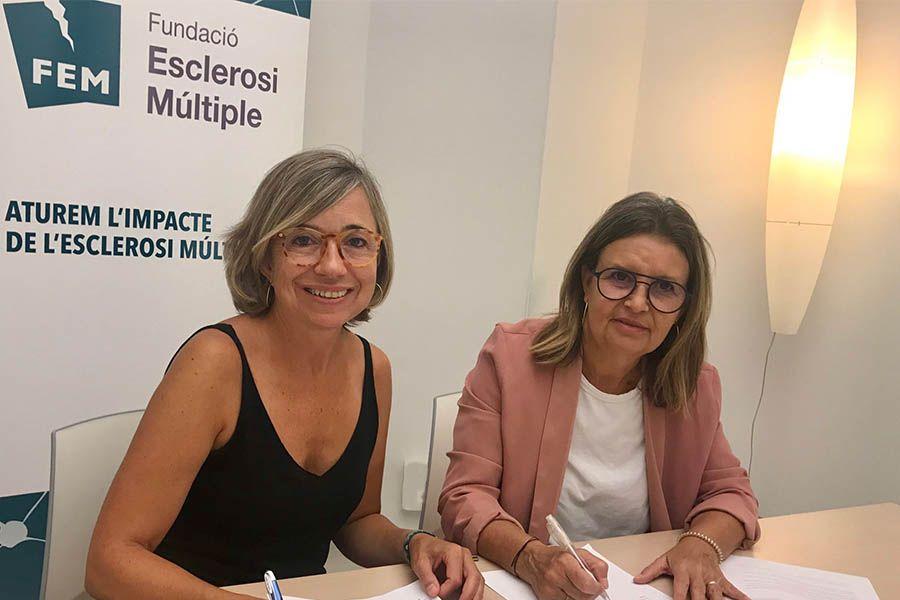 La Fundació Esclerosi Múltiple i la Fundació Iluro firmen un conveni de col·laboració per acostar l'art i la cultura a l'esclerosi múltiple